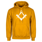 Gold Fleece Hoodie-Square and Compass