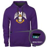Contemporary Sofspun Purple Hoodie-Spes Mea In Deo Est