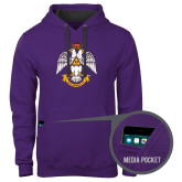 Contemporary Sofspun Purple Hoodie-Deus Meumque Jus