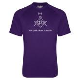 Under Armour Purple Tech Tee-Not Just A Man A Mason