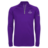 Under Armour Purple Tech 1/4 Zip Performance Shirt-Square and Compass with G
