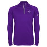 Under Armour Purple Tech 1/4 Zip Performance Shirt-Not Just A Man A Mason