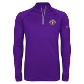 Under Armour Purple Tech 1/4 Zip Performance Shirt-Freemasons
