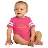 Vintage Hot Pink Jersey Onesie-Future Freemason