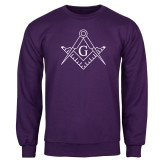 Purple Fleece Crew-Square and Compass with G