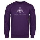 Purple Fleece Crew-Not Just A Man A Mason
