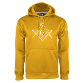 Under Armour Gold Performance Sweats Team Hoodie-Square and Compass with G