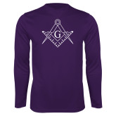 Performance Purple Longsleeve Shirt-Square and Compass with G