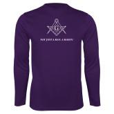 Performance Purple Longsleeve Shirt-Not Just A Man A Mason