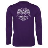 Performance Purple Longsleeve Shirt-Freemasons