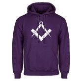 Purple Fleece Hoodie-Square and Compass