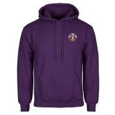 Purple Fleece Hoodie-Spes Mea In Deo Est