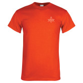 Orange T Shirt-Square and Compass with G