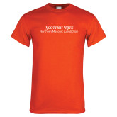 Orange T Shirt-Scottish Rite Wordmark