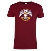 Ladies Cardinal T Shirt-Freemasons