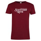 Ladies Cardinal T Shirt-Scottish Rite