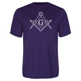 Performance Purple Tee-Square and Compass with G