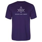 Performance Purple Tee-Not Just A Man A Mason