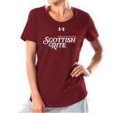 Ladies Under Armour Cardinal Charged Cotton Tee-Scottish Rite