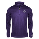 Russell Purple Heather 1/4 Zip-Square and Compass with G