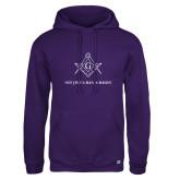 Russell DriPower Purple Fleece Hoodie-Not Just A Man A Mason
