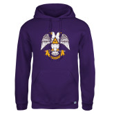 Russell DriPower Purple Fleece Hoodie-Freemasons