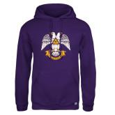 Russell DriPower Purple Fleece Hoodie-Spes Mea In Deo Est