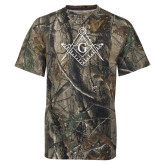 Realtree Camo T Shirt-Square and Compass with G