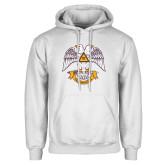 White Fleece Hoodie-Freemasons