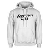 White Fleece Hoodie-Scottish Rite