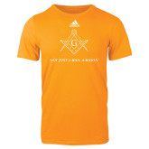 Adidas Gold Logo T Shirt-Not Just A Man A Mason