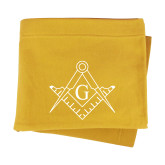 Gold Sweatshirt Blanket-Square and Compass with G