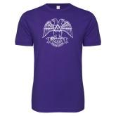 Next Level SoftStyle Purple T Shirt-Freemasons
