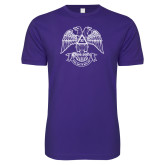 Next Level SoftStyle Purple T Shirt-Spes Mea In Deo Est