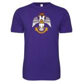 Next Level SoftStyle Purple T Shirt-Deus Meumque Jus