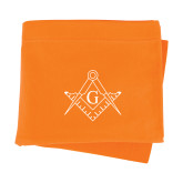 Orange Sweatshirt Blanket-Square and Compass with G