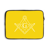 13 inch Neoprene Laptop Sleeve-Square and Compass with G