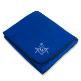 Royal Arctic Fleece Blanket-Square and Compass with G