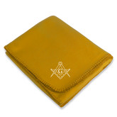 Gold Arctic Fleece Blanket-Square and Compass with G