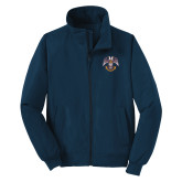 Navy Charger Jacket-Spes Mea In Deo Est
