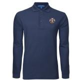 Navy Long Sleeve Polo-Freemasons