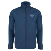 Navy Softshell Jacket-Square and Compass with G