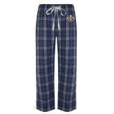 Navy/White Flannel Pajama Pant-Spes Mea In Deo Est