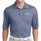 Nike Golf Dri Fit Navy Heather Polo-Square and Compass with G
