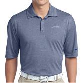 Nike Golf Dri Fit Navy Heather Polo-Scottish Rite Wordmark