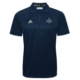 Adidas Climalite Navy Jacquard Select Polo-Square and Compass with G
