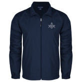 Full Zip Navy Wind Jacket-Square and Compass with G