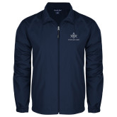Full Zip Navy Wind Jacket-Not Just A Man A Mason