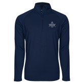 Sport Wick Stretch Navy 1/2 Zip Pullover-Square and Compass with G