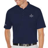 Callaway Opti Dri Navy Chev Polo-Square and Compass with G